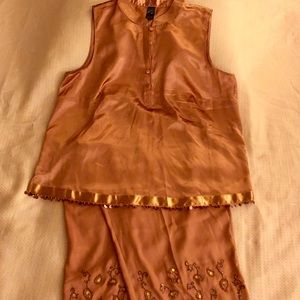 Beautiful Embroidered Copper Cabernet Pajamas